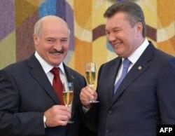 Аляксандар Лукашэнка і Віктар Януковіч, чэрвень 2013