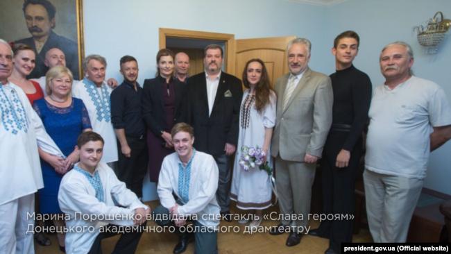 Марина Порошенко у Донецькому театрі
