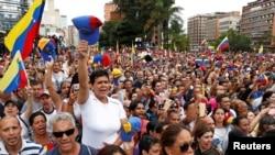 Акция протеста в Каракасе, 23 января 2019 года.