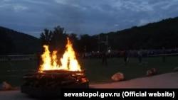 Туристический слет «Артека» в севастопольском урочище «Торопова дача»