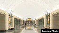 На станции «Трубная» в нише у каждого пилона будут представлены виды старой Москвы