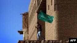 İraqın şimalında kürd bayraq qaldırır, arxiv fotosu