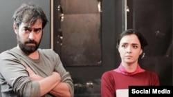 شهاب حسینی و ترانه علیدوستی در نمایی از فیلم «فروشنده» ساخته اصغر فرهادی