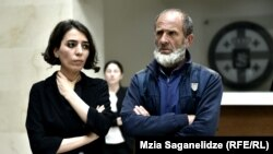 Малхаз Мачаликашвили и Тамта Микеладзе в здании госканцелярии