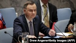 Президент Польщі Анджей Дуда головує на зустрічі Ради безпеки ООН у Нью-Йорку, США, 17 травня 2018 року