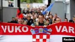 Prosvjedi u Vukovaru protiv ćirilice, rujan 2013.