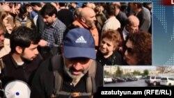 Лидер протестного движения Никол Пашинян, Ереван, 20 апреля 2018 г.