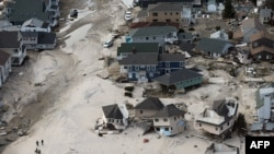 Shkatërrimi i zonës bregdetare Seaside Heights, New Jersey