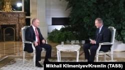 Владимир Путин и австрийский журналист Армин Вольф