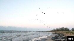 Ветер относит вылившийся из танков мазут к украинским берегам