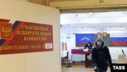 O secţie de votare la Murmansk