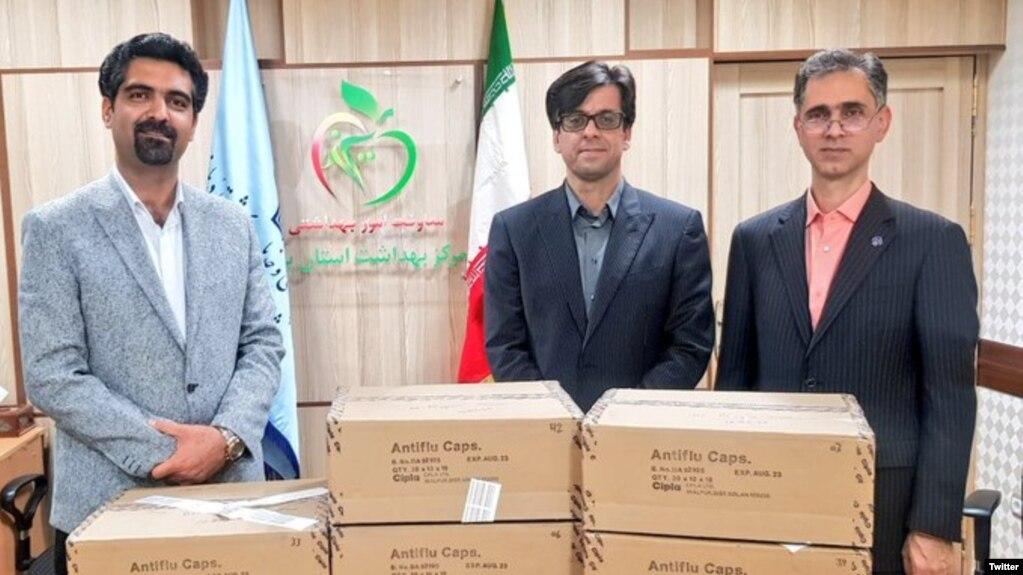 Zoroastrian Parsis from India brought medical supplies for Iran to fight coronavirus. A leader of Iran's Zoroastrian community, Sepanta Niknam (L) March 25, 2020