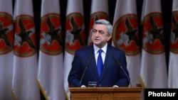 Armenia -- President Serzh Sarkisian speaking at the ruling Republican Party's congress in Yerevan, 15Dec, 2012