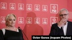 Liviu Dragnea și premierul Viorica Dăncilă