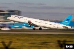 Un avion Airbus A321 de tipul celui prăbușit în Sinai la aeroportul Domodedovo de la Moscova