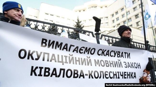 Під час пікету КСУ. Київ, 23 січня 2018 року