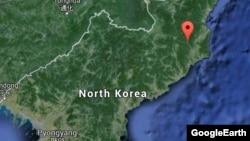 Предполагаемый район проведения трех ядерных испытаний в Северной Корее. Иллюстративное фото.