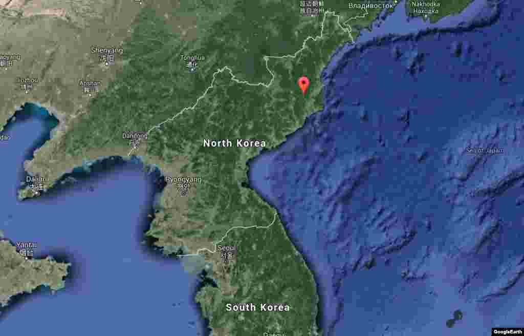Полигон Пангири в Северной Корее, в провинции Хамгён-Пукто, известен как возможное место проведения ядерных испытаний в 2006, 2009 и 2013 годах