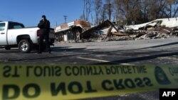 Руйнування будівель, влаштовані протестувальниками, після рішення суду у справі про вбивство темношкірого підлітка у США, містечко Ферґюсон, штат Міссурі, 25 листопада 2014 року