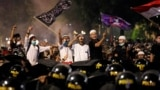 Indonesia - Protest across the Election Supervisory Agency (Bawaslu) headquarters in Jakarta