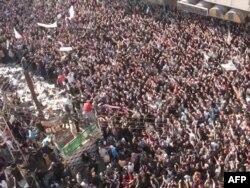 Anti-režimski protesti u Homsu, Sirija, 27. decembar 2011.
