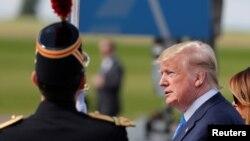 ورود دونالد ترامپ، رئیس جمهوری آمریکا، به شهر کان در شمال فرانسه