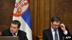 Predsednik Vlade Srbije Ivica Dačić i vicepremijer Aleksandar Vučić
