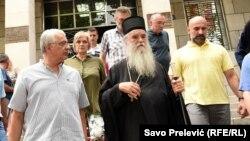 Mitropolit srpske crkve u Crnoj Gori Amfilohije sa liderima opozicionog Demokratskog fronta