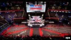 Posljednje pripreme pred početak nacionalne konvencije Republikanske stranke u Klivlendu, 18. jul 2016.