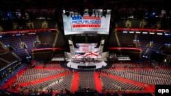 Зал заседаний съезда Республиканской партии США, Кливленд, Огайо, 18 июля 2016 года.