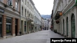 The streets of the Bosnian capital, Sarajevo, have been virtually deserted during the coronavirus lockdown.