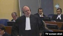 Advokat Gregory Kehoe, jedan od branitelja generala Gotovine u sudnici tribunala, 31 avgust 2010