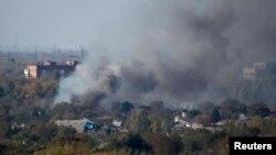 Обстріли в Донецьку, фото 9 жовтня 2014 року