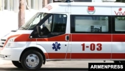 Armenia - An ambulance in Yerevan donated by the Chinese government.
