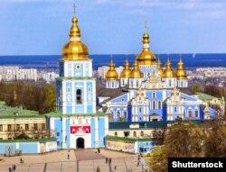 Михайлівський Золотоверхий монастир у Києві, який належить Православній церкві України (ПЦУ)