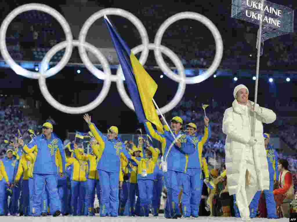...while Ukraine was shut out of the medal count in 2010.