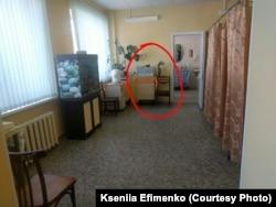 Место в процедурной, где делали УВЧ четырехлетней Алисе