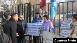 Акция протеста у Министерства образования