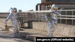 Krımda mülki müdafiə təlimləri