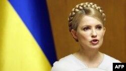 Yulia Tymoshenko, në kohën kur ka qenë kryeministre. Shkurt, 2010.