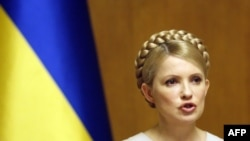 Ukrainian Prime Minister Yulia Tymoshenko speaks at a cabinet meeting in Kyiv on February 11.
