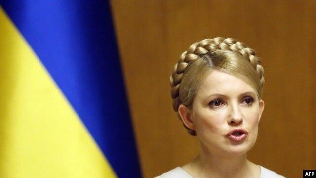 Ukrainian Prime Minister Yulia Tymoshenko speaks at a cabinet meeting in Kyiv on February 11.