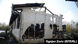 Obrenovac: Zapaljena baraka namenjena za azilante