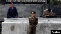 مرز کره شمالی و چین در کرانه رود یالو