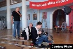Андрей Митёшин на съемочной площадке
