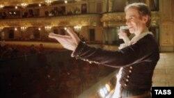 Рудольф Нуриев Киров исемендәге опера һәм балет театры сәхнәсендә, 1 декабрь 1989