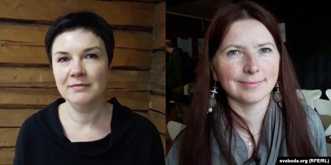 Ірына Раманава (зьлева) і Ірына Кашталян