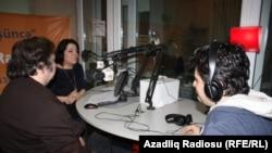 Azerbaijan-RFERL correspondent Shahnaz Baylargizi, composers Elmir Mirzoyev and Firudin Allahverdi