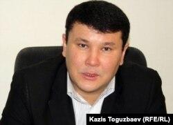 Заместитель председателя филиала партии «Нур Отан» Галым Байжанов. Жанаозен, 16 февраля 2012 года.