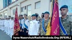 Військовослужбовці 36 окремої бригади морської піхоти на урочистостях в Одесі, 07 липня 2019